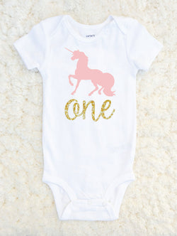 First Birthday Onesie Unicorn