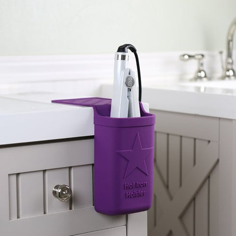 Curling Iron or Flat Iron Holder for Hot Tools, Original, Purple-Hot Iron Holster-Holster Brands