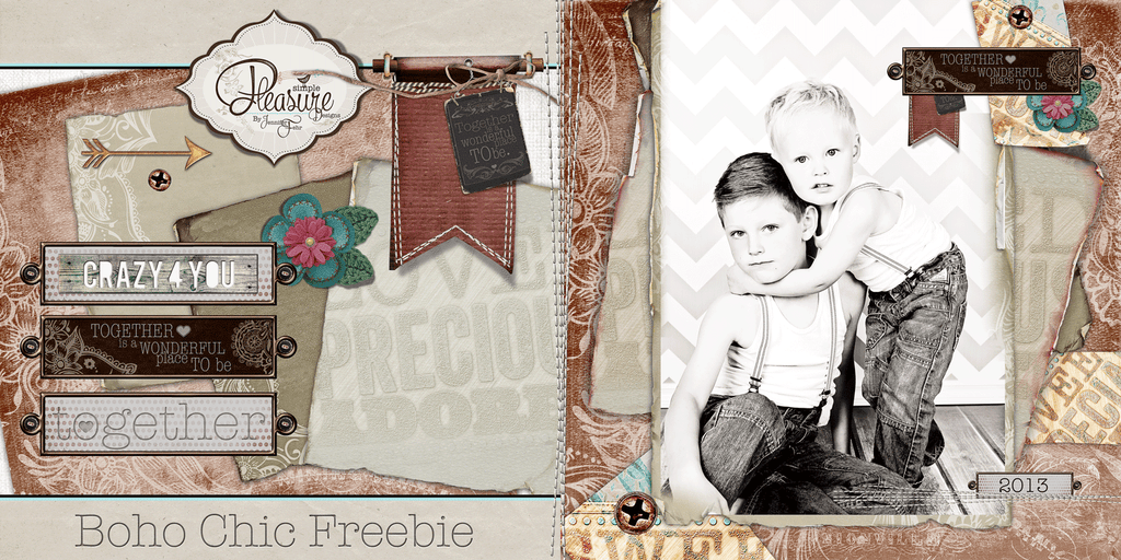 Enjoy this CUTE Boho Chic FREEBEE set!