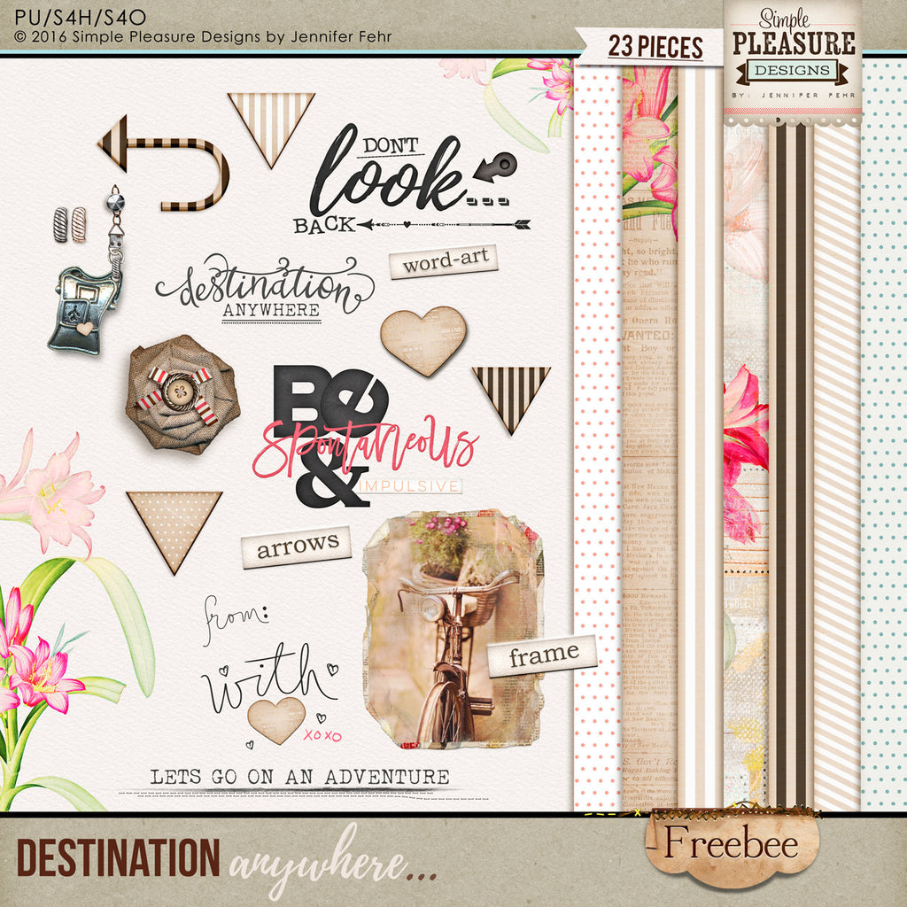 Destination Anywhere HAS Released! Here is a Freebee kit for YOU!