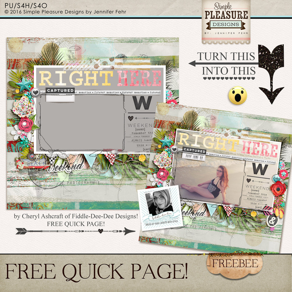 FREEBEE Quick Page by Cheryl Ashcraft!