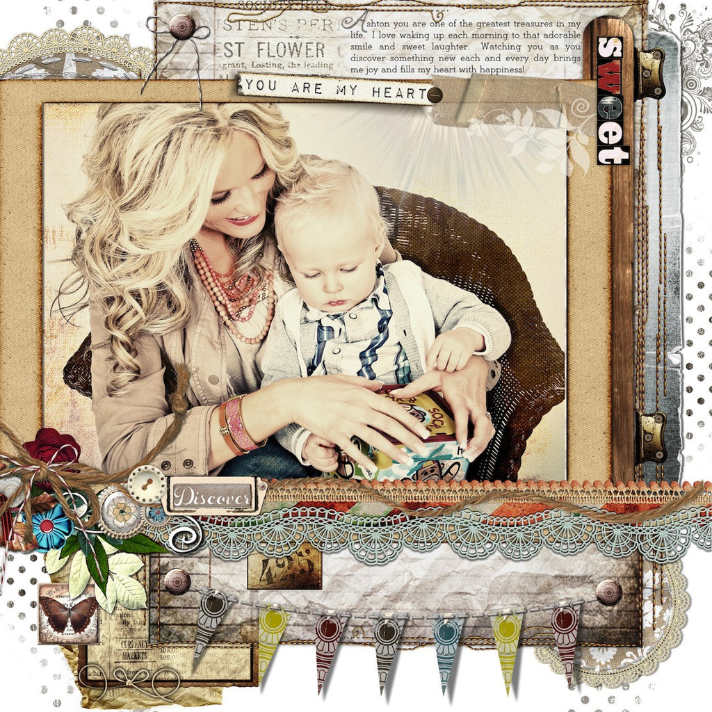 Some new Vintage Layouts to share!! using the Vintage Inspired Bundle