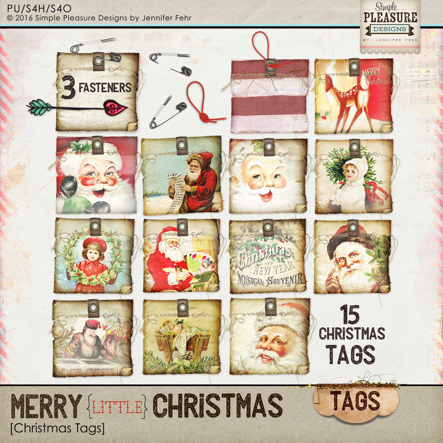 Merry little Christmas Tags