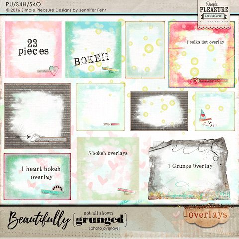 Beautifully Grunged: Frames, Overlays & Bokeh Addition