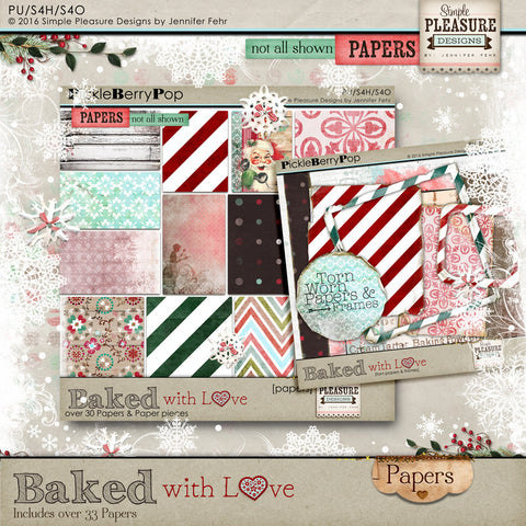 Baked with Love Paper & Frame Pack