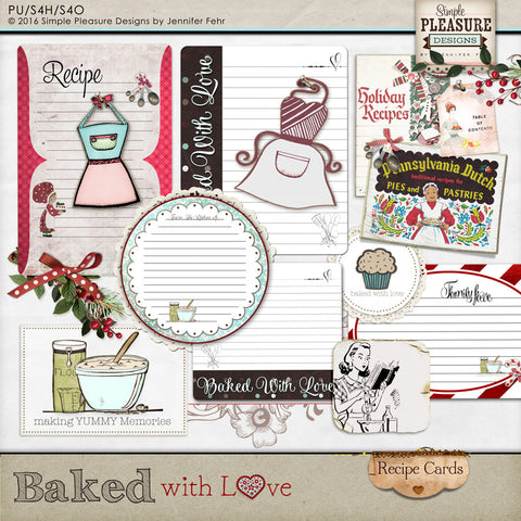 Baked with Love Recipe Cards