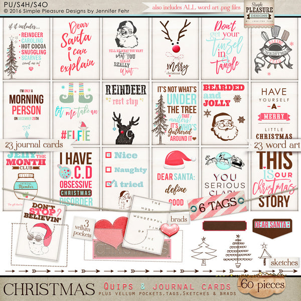 Most Wonderful Time of The Year - Christmas Quips & Journal Cards