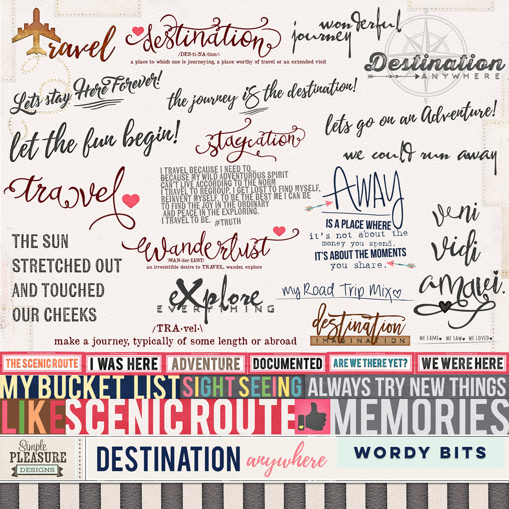 Destination Anywhere Wordy Bits