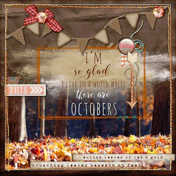 Pumpkin Spice Frames & Elements