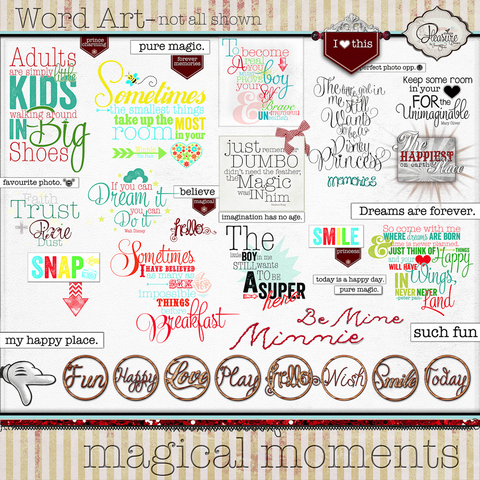 Magical Moments: {Word Art}