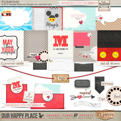 Our Happy Place: Journal Cards & Pockets