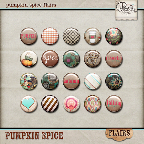 Pumpkin Spice Flairs