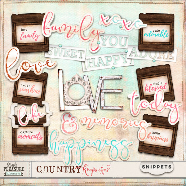 COUNTRY KEEPSAKES: SNIPPETS