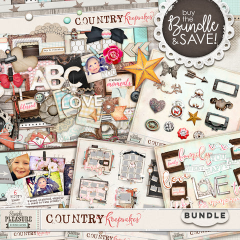 COUNTRY KEEPSAKES: BUNDLE