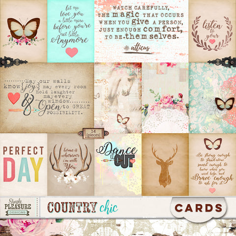 COUNTRY CHIC: Journal Cards