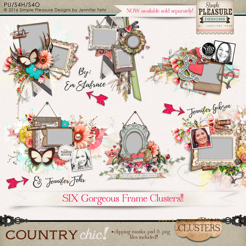 Country Chic Frame Clusters