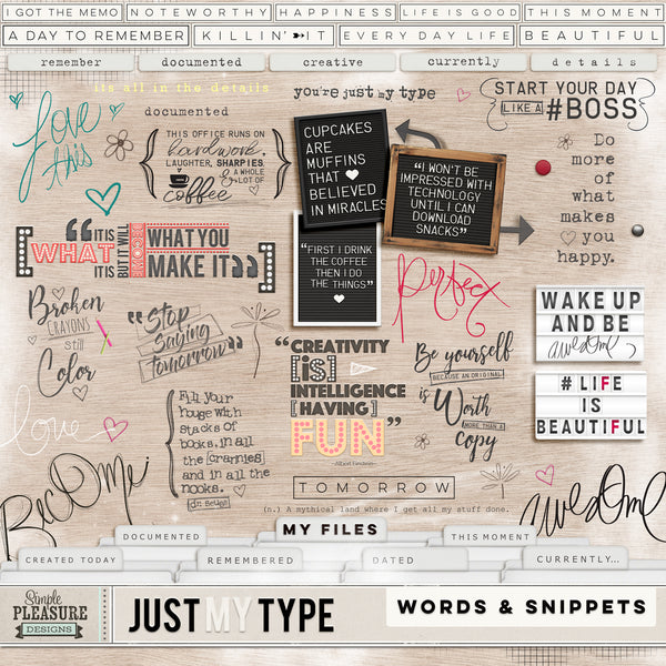 Just my Type Word Art Pack