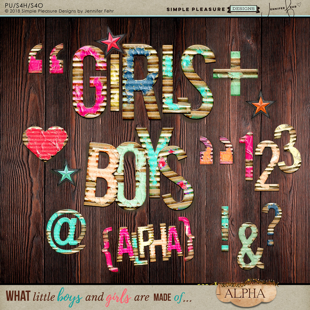 What little boys & girls are made of - ALPHA PACK