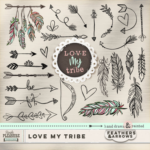 LOVE MY TRIBE: FEATHERS & ARROWS