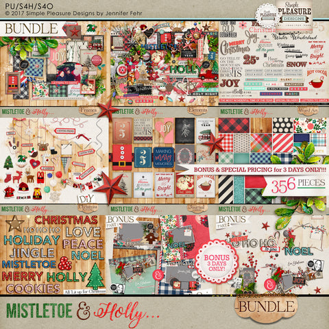 Mistletoe & Holly BUNDLE
