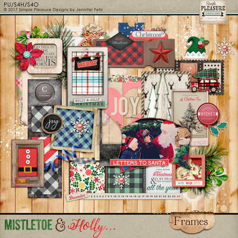 Mistletoe & Holly Frames