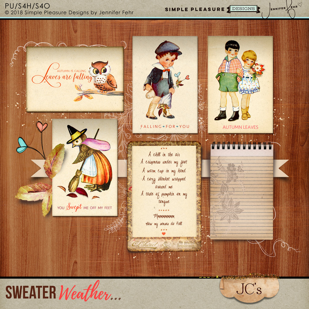 Sweater Weather Journal Cards