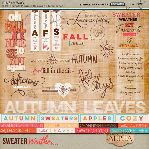 Sweater Weather Word Art