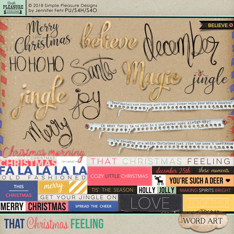 "That Christmas Feeling ""Word Art"" Pack"