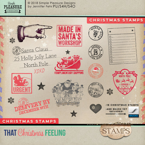 "That Christmas Feeling ""Stamps"" Pack"