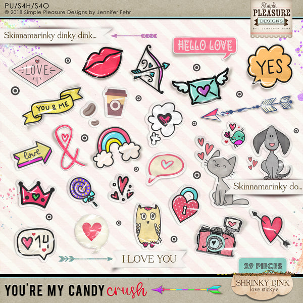 You're My Candy Crush RETRO Shrinky Dinks