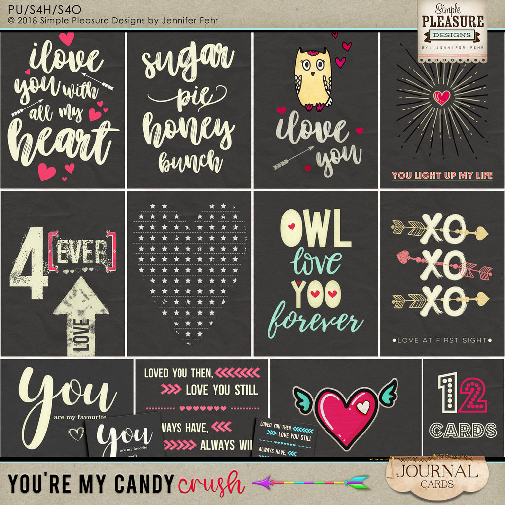 You're My Candy Crush Journal Cards