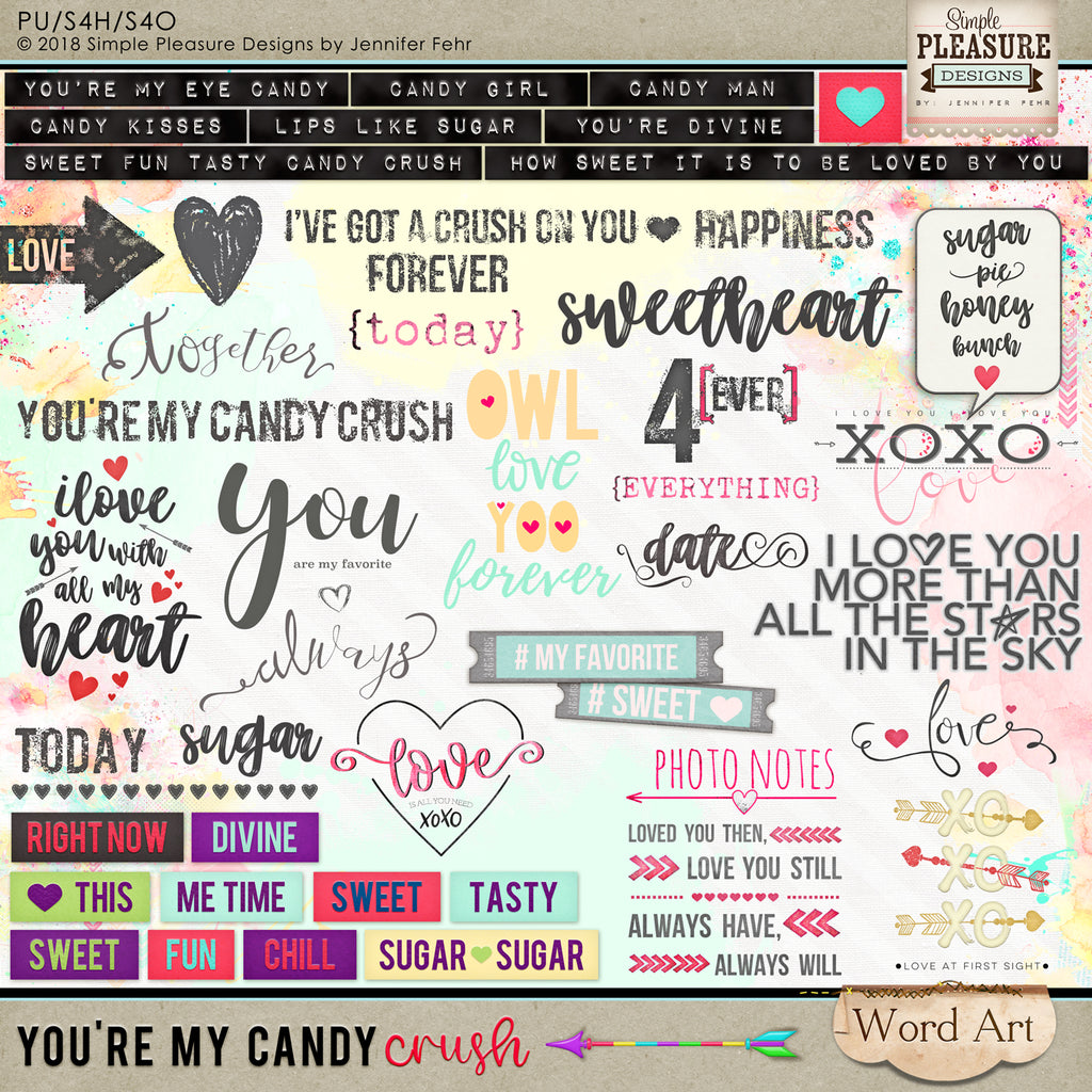 You're My Candy Crush Word Art