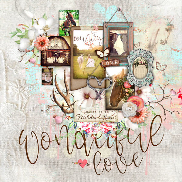 COUNTRY CHIC: Mixed Media
