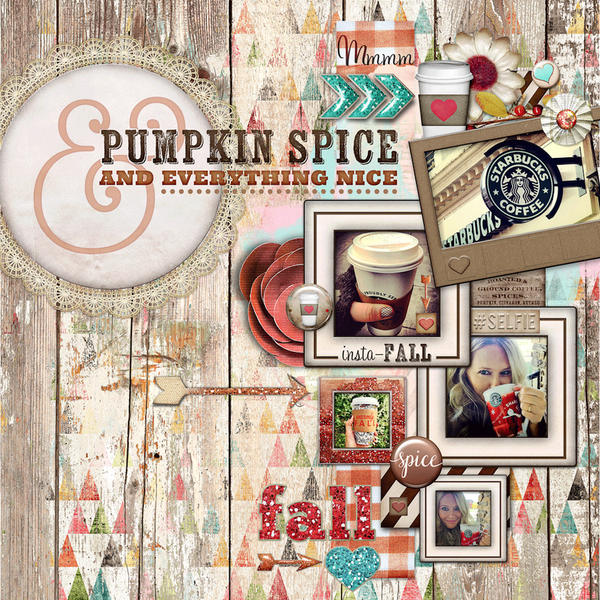 Pumpkin Spice Word Art