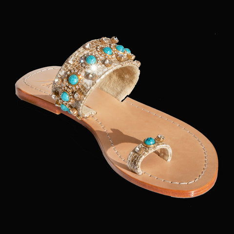 Gorgeous Jewelry Flats Pasha Bougainville