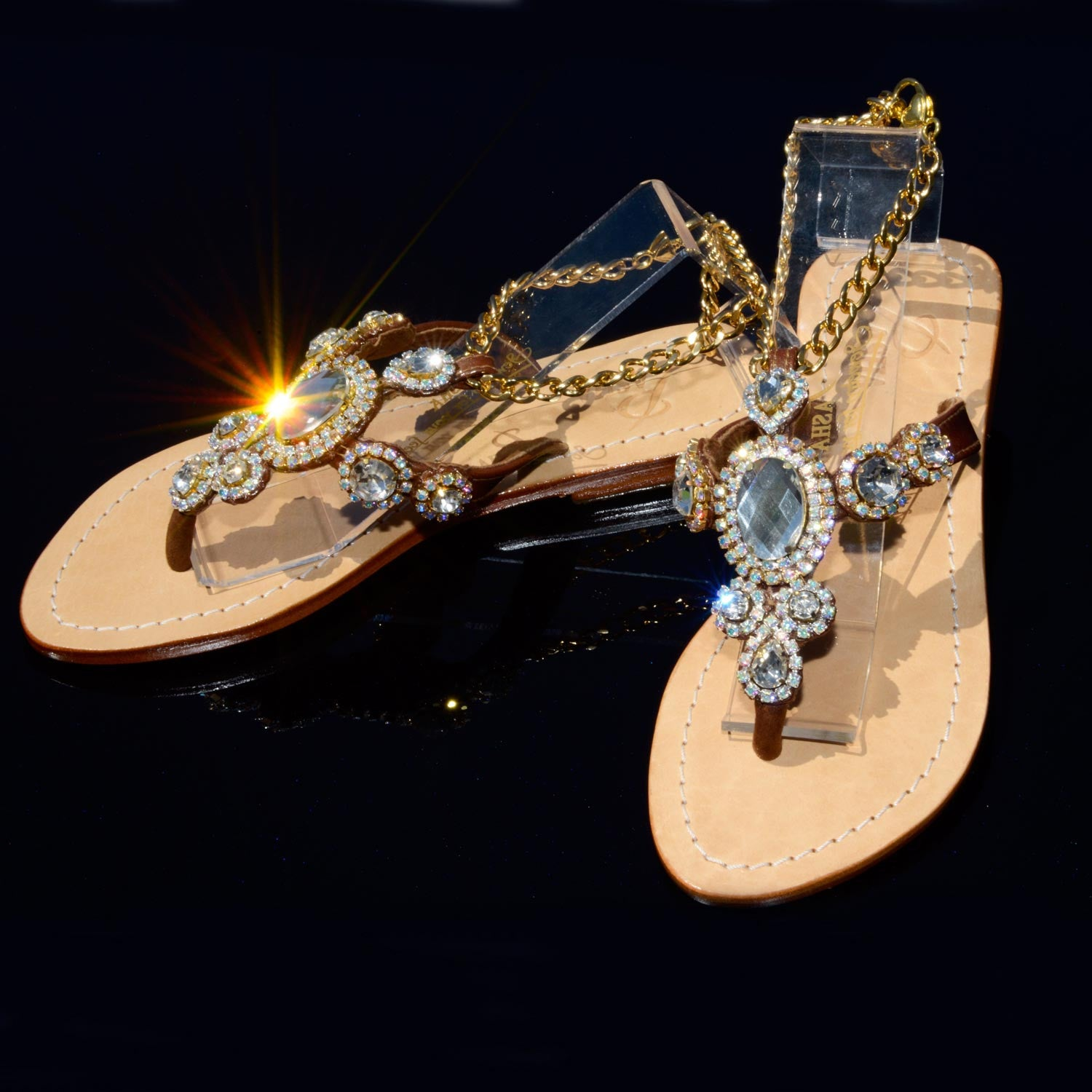 01b584068c12d Jeweled Shoes Pasha. Genuine Leather