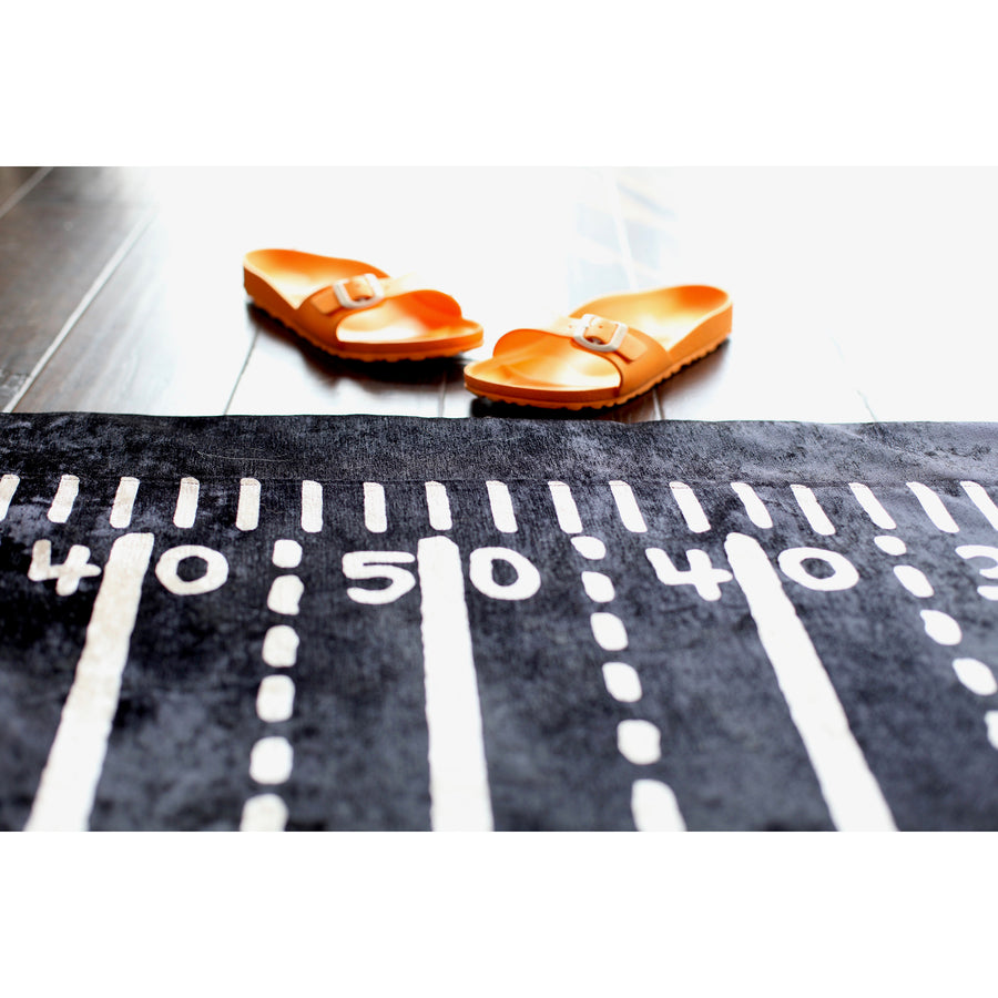 The Gridiron Rug Slip Cover Play Mat 4' x 6' CBS THE TALK