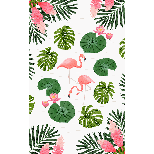 Duck, Duck, Flamingo Rug Slip Cover Play Mat 4' x 6'