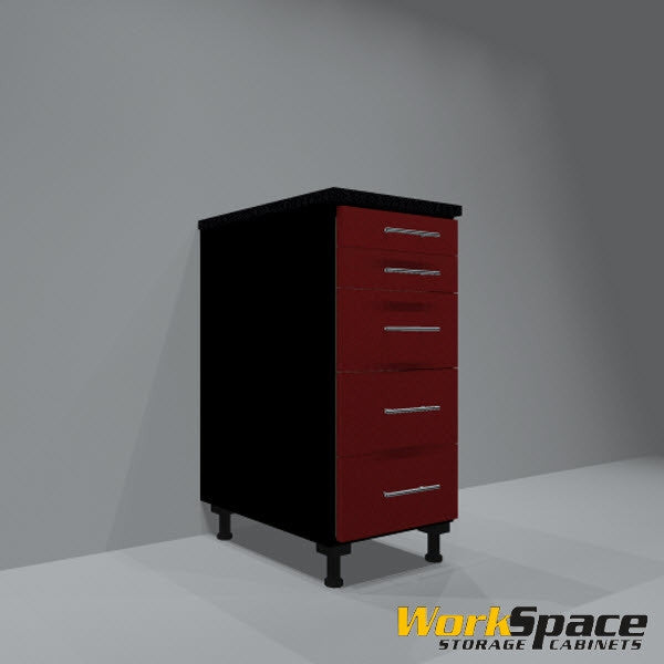 5 Drawer Base Garage Cabinet 16-1/2