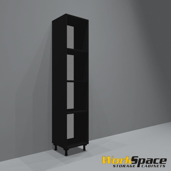 Open Tall Garage Cabinet (3 Adj. Shelves) 16-1/2