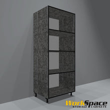 "32""W x 80""H x 24""D Open Tall Garage Cabinet"