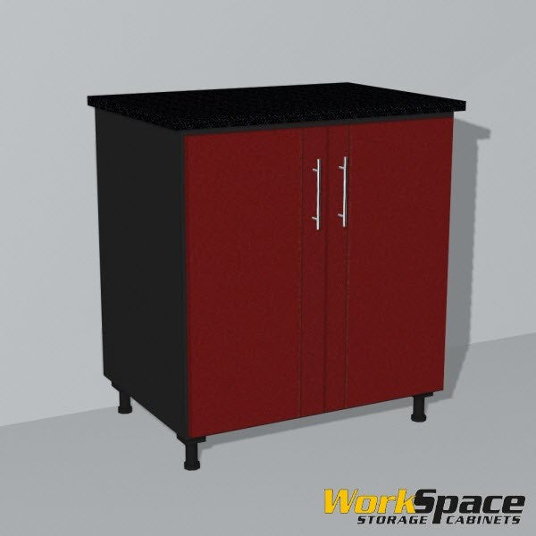 2 Door Base Garage Cabinet (2 Adj. Shelves) 32-1/4