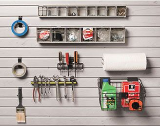 9 Piece Work Bench Area SlatWall Accessory Kit