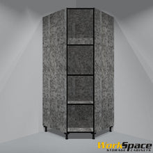 "Open Tall Corner Garage Cabinet  (3 Adj. Shelves) 35-1/2""W1 x 35-1/2"" W2 x 79-1/8""H x 23-3/4""D"