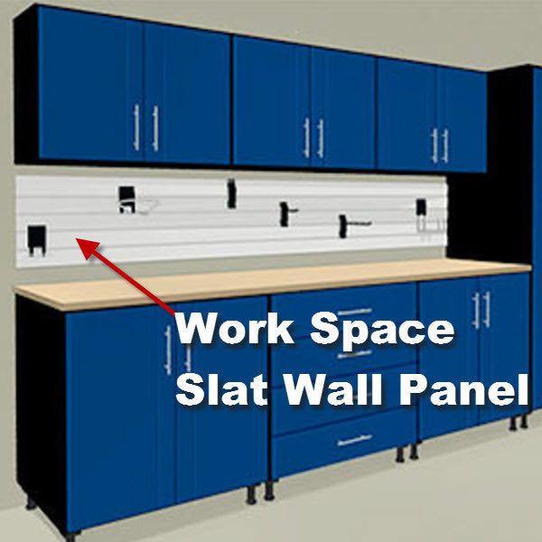 Custom Work Space SlatWall Panels