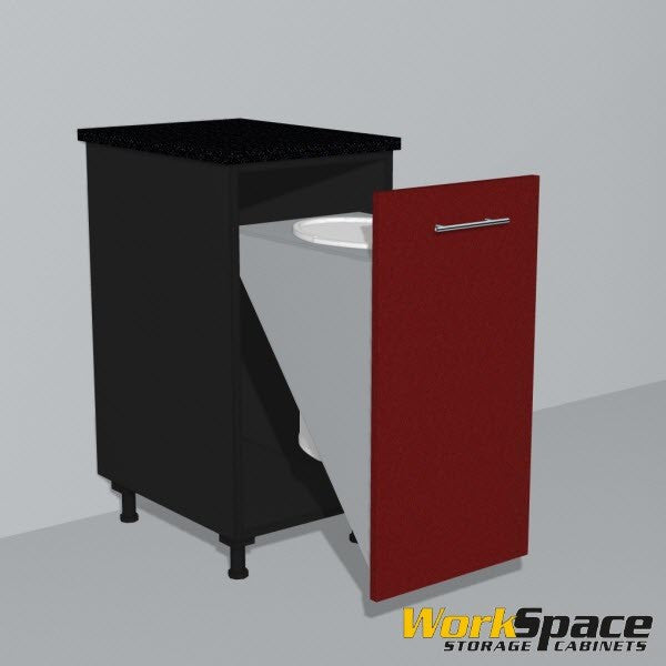 Trash Bin Base Garage Cabinet 16-1/2