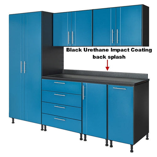 Black Urethane Impact Coating Back Splash (Check Sku for Size)