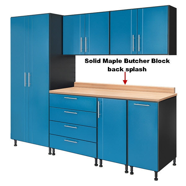 Solid Maple Butcher Block Back Splash 64.75' - 89.25'