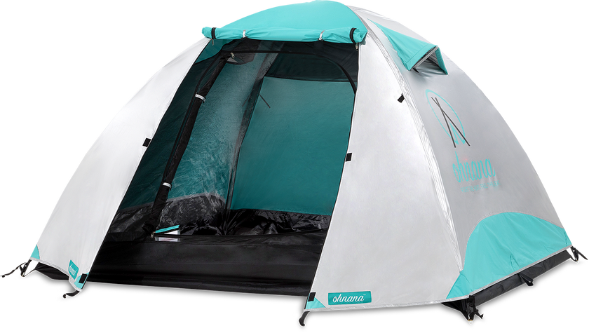 Ohnana Rayve tent with open door and lighting inside