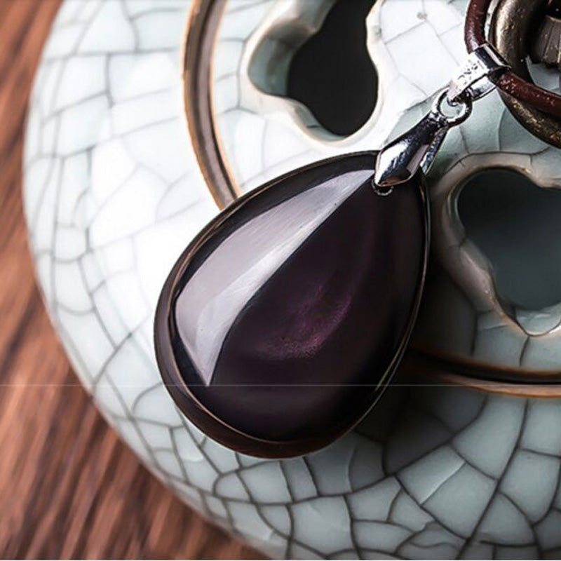 Luxury Obsidian Water Drop Shape
